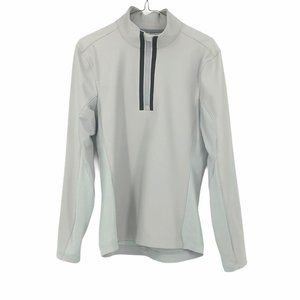 Lululemon men's grey nylon half zip jacket